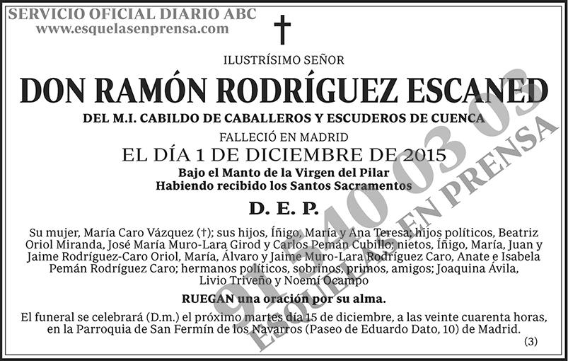 Ramón Rodríguez Escaned